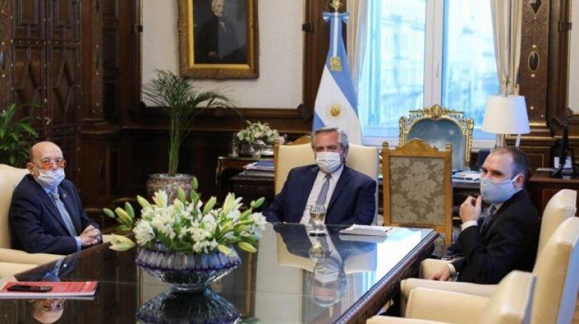 Coto, Alberto Fernández y Martín Guzmán