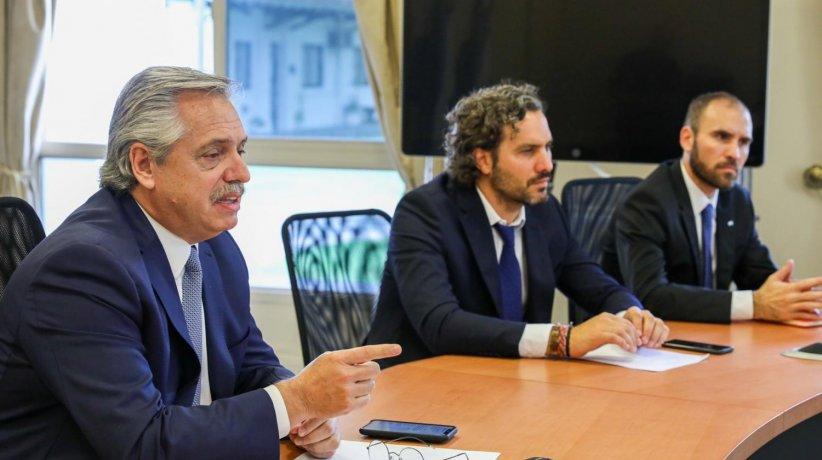 Alberto Fernández, Cafiero y Guzmán.