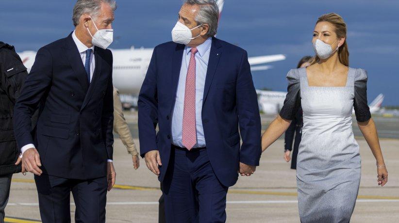 El Presidente al llegar a París